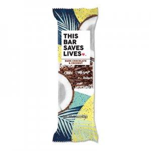This Bar Saves Lives Snackbars, Dark Chocolate & Coconut, 1.4 oz, 12/Box TSL00457PK 00457PK