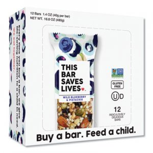 This Bar Saves Lives Snackbars, Wild Blueberry & Pistachio, 1.4 oz, 12/Box TSL00445PK 00445PK