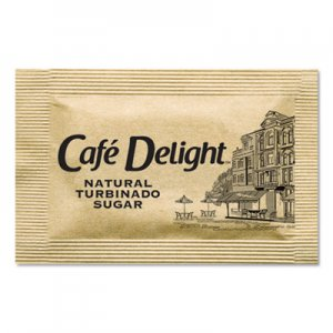 Cafe Delight Raw Turbinado Sugar Packets, 2.8 g Packet, 2000 Packets/Box OFX11276