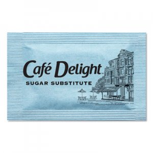 Cafe Delight Blue Sweetener Packets, 0.08 g Packet, 2000 Packets/Box OFX11103