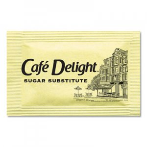 Cafe Delight Yellow Sweetener Packets, 0.08 g Packet, 2000 Packets/Box OFX11101