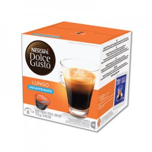 Nescafe Dolce Gusto Capsules, Lungo Decaf, 48/Carton NES27329 27329