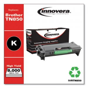 Innovera Remanufactured Black High-Yield Toner Cartridge, Replacement for Brother TN850, 8,000 Page-Yield IVRTN850