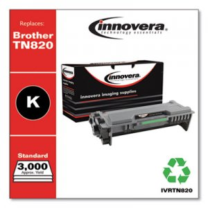 Innovera Remanufactured Black Toner Cartridge, Replacement for Brother TN820, 3,000 Page-Yield IVRTN820