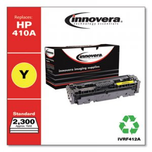 Innovera Remanufactured Yellow Toner Cartridge, Replacement for HP 410A (CF412A), 2,300 Page-Yield IVRF412A