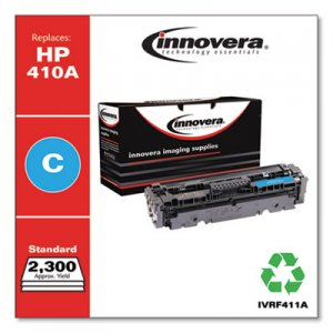 Innovera Remanufactured CF411A (410A) Toner, 2300 Page-Yield, Cyan IVRF411A