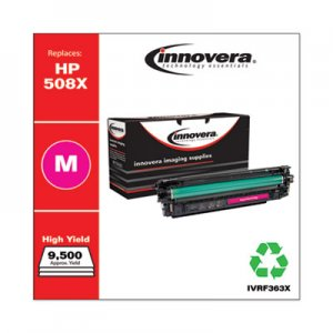 Innovera Remanufactured Magenta High-Yield Toner Cartridge, Replacement for HP 508X (CF363X), 9,500 Page-Yield IVRF363X