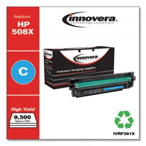 Innovera Remanufactured CF361X (508X) High-Yield Toner, 9500 Page-Yield, Cyan IVRF361X