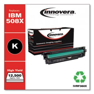 Innovera Remanufactured CF360X (508X) High-Yield Toner, 12500 Page-Yield, Black IVRF360X