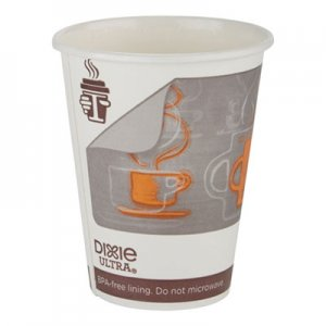 Georgia Pacific Professional Dixie Ultra Insulair Paper Hot Cup, 12 oz, Coffee, 50 Cups/Sleeve, 20 Sleeves/CT DXE6342AR 6342AR