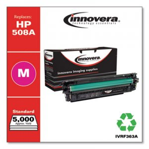 Innovera Remanufactured Magenta Toner Cartridge, Replacement for HP 508A (CF363A), 5,000 Page-Yield IVRF363A IVR508AM
