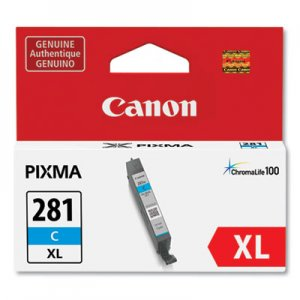 Canon (CLI-281XL) ChromaLife100 Ink, Cyan CNM2034C001 2034C001
