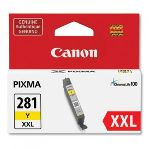 Canon 1982C001 (CLI-281XXL) ChromaLife100 Ink, Yellow CNM1982C001 1982C001
