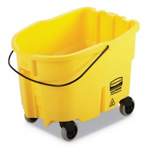 Rubbermaid Commercial WaveBrake 2.0 Bucket, 26 qt, Plastic, Yellow RCPFG747000YEL 2064996