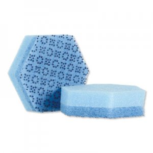 "Scotch-Brite PROFESSIONAL Low Scratch Scour Sponge 3000HEX, 4.45"" x 3.85"", Blue, 16/Carton MMM3000HEX 3000HEX"