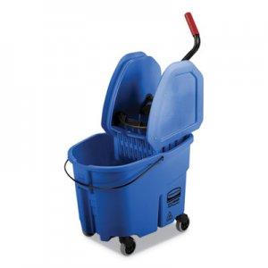 Rubbermaid Commercial WaveBrake 2.0 Bucket/Wringer Combos, 35 qt, Down Press, Plastic, Blue RCPFG757888BLUE FG757888BLUE