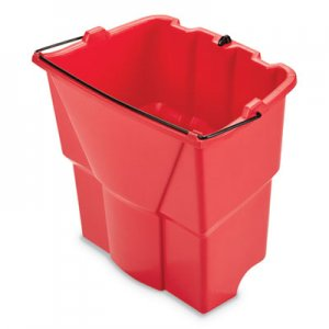 Rubbermaid Commercial WaveBrake 2.0 Dirty Water Bucket, 18 qt, Plastic, Red RCP2064907 2064907