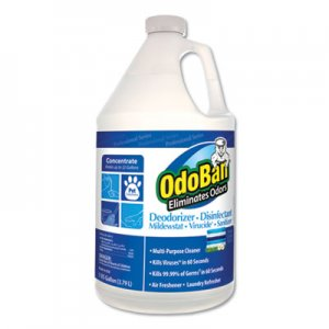 OdoBan Concentrate Odor Eliminator and Disinfectant, Fresh Linen, 128 oz ODO911762G4EA 911762-G4