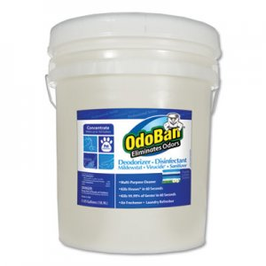 OdoBan Concentrate Odor Eliminator and Disinfectant, Fresh Linen, 5 gal ODO9117625G 911762-5G