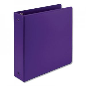 "Samsill Earth's Choice Biobased Economy Round Ring View Binders, 3 Rings, 2"" Capacity, 11 x 8.5, Purple SAM17368"