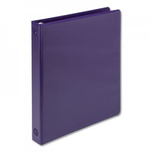 "Samsill Earth's Choice Biobased Economy Round Ring View Binders, 3 Rings, 1"" Capacity, 11 x 8.5, Purple SAM17338"