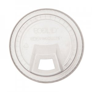 Eco-Products GreenStripe Cold Cup Sip Lid, Fits 9-24 oz. Cups, Clear, 1000/Carton ECOEPFLCS EP-FLCS