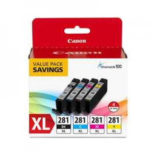 Canon 2037C005 (CLI-281XL) Ink, Black/Cyan/Magenta/Yellow CNM2037C005 2037C005