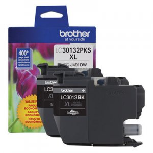 Brother LC30132PKS High-Yield Ink, 400 Page-Yield, Black BRTLC30132PKS LC30132PKS