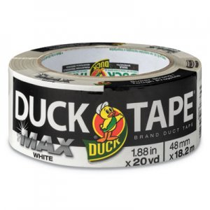 "Duck MAX Duct Tape, 3"" Core, 1.88"" x 20 yds, White DUC241620 241620"