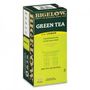 Bigelow Green Tea with Lemon, Lemon, 0.34 lbs, 28/Box BTC10346 RCB10346