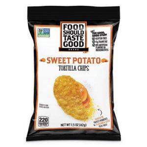 Food Should Taste Good Tortilla Chips, Sweet Potato with Sea Salt, 1.5 oz, 24/Carton AVT81237 GEM81237