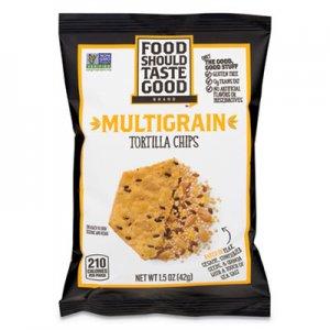 Food Should Taste Good Tortilla Chips, Multigrain with Sea Salt, 1.5 oz, 24/Carton AVT81233 GEM81233