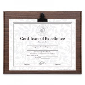 DAX Plaque With Metal Clip, Wood, 8 1/2 x 11 Insert, Walnut DAXN15618CWT N15618CWT