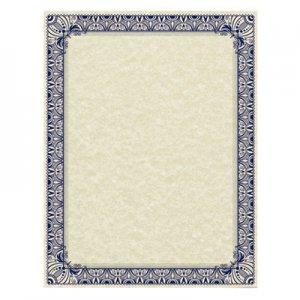 Southworth Parchment Certificates, Retro, 8 1/2 x 11, Ivory w/ Blue & Silver-Foil Border, 50/Pack SOU91352 91352