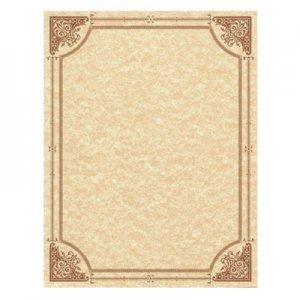 Southworth Parchment Certificates, Vintage, 8 1/2 x 11, Copper w/ Copper Border, 50/Pack SOU91351 91351