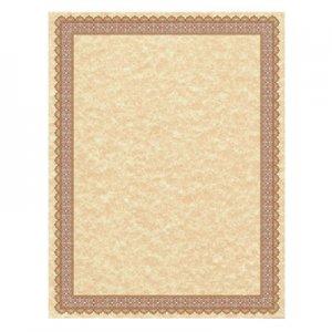 Southworth Parchment Certificates, Vintage, 8 1/2 x 11, Copper w/ Burgundy/Gold-Foil Border, 50/Pack SOU91350 91350