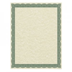 Southworth Parchment Certificates, Traditional, 8 1/2 x 11, Ivory w/ Green Border, 50/Pack SOU91341 91341