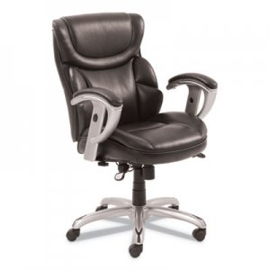 SertaPedic Emerson Task Chair, Supports up to 300 lbs., Brown Seat/Brown Back, Silver Base SRJ49711BRW 49711BRW