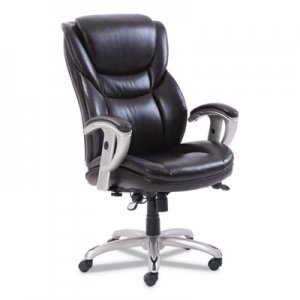 SertaPedic Emerson Executive Task Chair, Supports up to 300 lbs., Brown Seat/Brown Back, Silver Base SRJ49710BRW 49710BRW