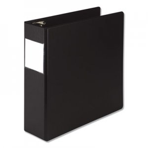 "Samsill Earth's Choice Round Ring Reference Binder, 3 Rings, 3"" Capacity, 11 x 8.5, Black SAM14880 14880"