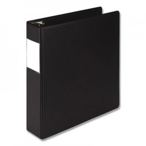 "Samsill Earth's Choice Round Ring Reference Binder, 3 Rings, 2"" Capacity, 11 x 8.5, Black SAM14860 14860"