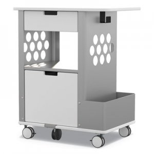 Safco Mobile Storage Cart, 28w x 20d x 33.5h, White, 150-lb Capacity SAF5202WH 5202WH