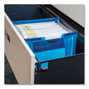 "C-Line Expanding File w/ Hanging Tabs, 1"" Expansion, 13 Sections, Letter Size, Blue CLI58215 58215"