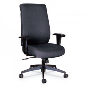 Alera Alera Wrigley Series High Performance High-Back Synchro-Tilt Task Chair, Up to 275 lbs., Black Seat/Back, Black