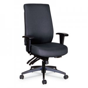 Alera Alera Wrigley Series High Performance High-Back Multifunction Task Chair, Up to 275 lbs., Black Seat/Back, Black Base