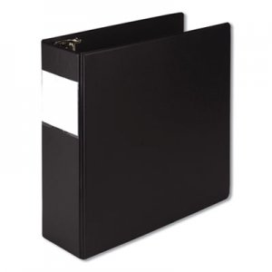 "Samsill Earth's Choice Biobased Round Ring Reference Binder, 3 Rings, 4"" Capacity, 11 x 8.5, Black SAM14890 14890"