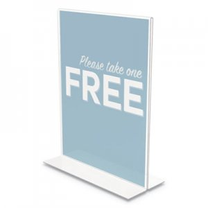 "deflecto Classic Image Stand-Up Double-Sided Sign Holder, 8 1/2"" x 11"", 12/Pack DEF69201VP 69201-VP"