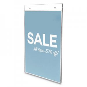"deflecto Classic Image Wall Sign Holder, 8 1/2"" x 11"", Clear Frame, 12/Pack DEF68201VP 68201-VP"