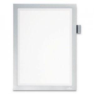 "Durable DURAFRAME Note Sign Holder, 8 1/2"" x 11"", Silver Frame DBL477323 477323"