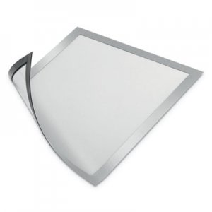 "Durable DURAFRAME Magnetic Sign Holder, 8 1/2"" x 11"", Silver Frame, 2/Pack DBL477123 477123"